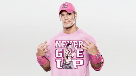 "WWE is also offering co-branded bracelets and a ""Rise Above Cancer"" hat, headband and wristband set, inspired by John Cena, who conceived of the partnership last year and continues to be an avid spokesman for Komen."