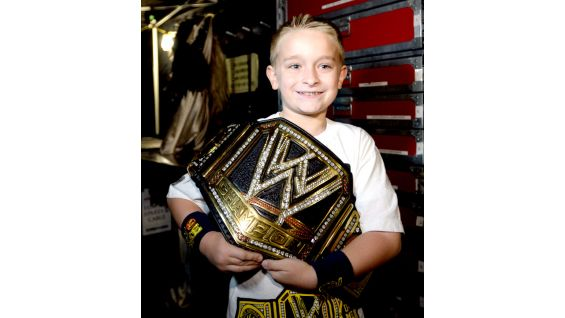 He even gets his hands on the WWE Title!
