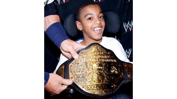 Carl is thrilled to hold Cena's World Heavyweight Title.