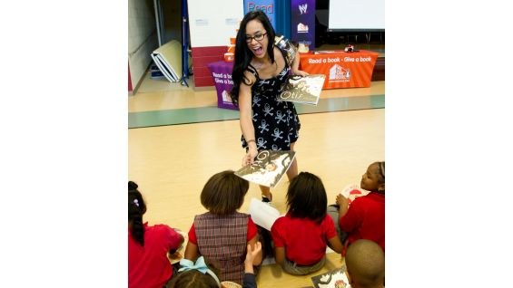 AJ Lee's favorite books were the Nancy Drew novels. She loved them so much it inspired her to go to school for writing.