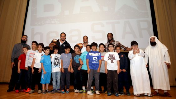 WWE hosts a Be a STAR rally for students in Riyadh, Saudi Arabia.