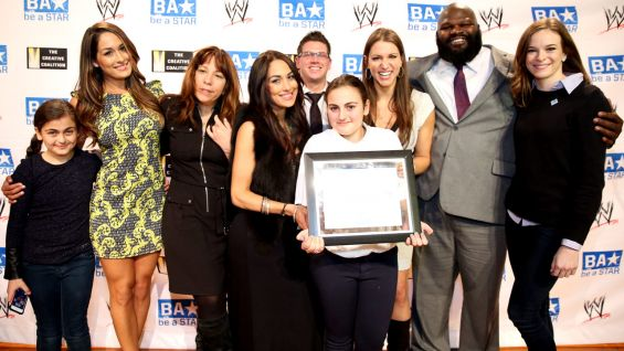 WWE hosts a Be a STAR rally in North Hollywood, Calif. James Madison Middle School student, Angela, started the school's Be a STAR chapter.