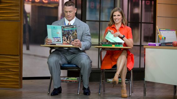 After surprising Rocco, Cena gets schooled in back-to-school fashion.
