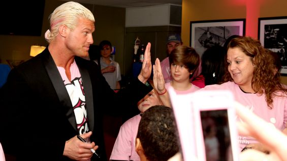 Dolph Ziggler takes part in the festivities.