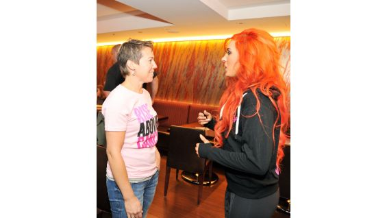 Becky Lynch is one of the many WWE Divas showing her support for Komen.