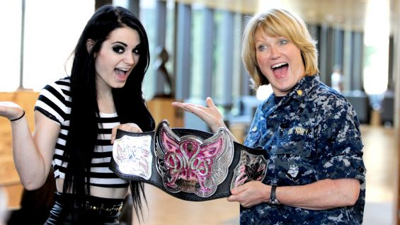 Paige and the Superstars meet the U.S. Troops and their families before Raw in Washington, D.C.