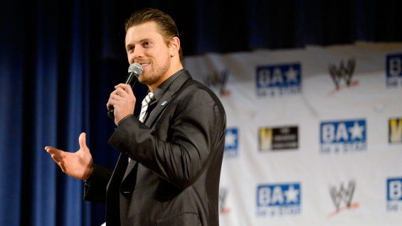 The Miz urged every student to do something positive for their classmates every day.