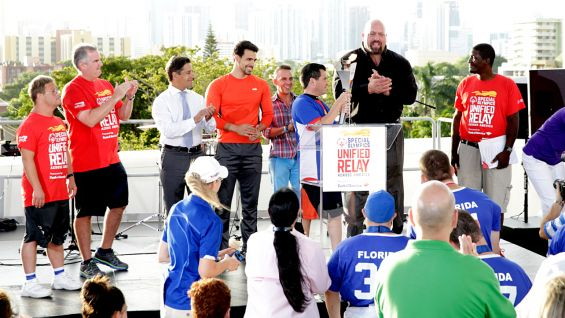WWE is a promotional partner of the 2015 Special Olympics World Games and the Unified Relay.
