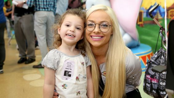 NXT Superstar Liv Morgan is delighted to greet children at the Arnold Palmer Hospital for Children.