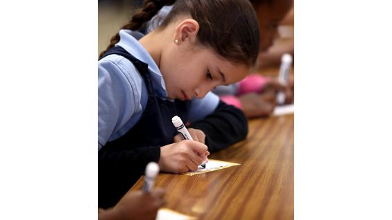 """The students are encouraged to write and draw things that make them """"extraordinary."""""""