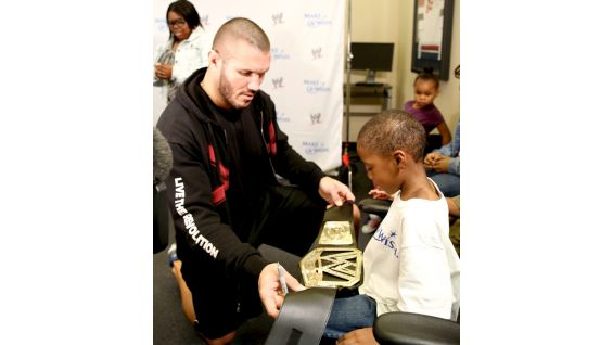 Orton also meets Circle of Champions honoree Brandon.