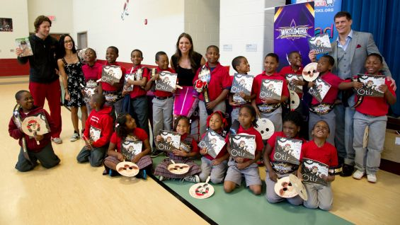 WWE, We Give Books and Pearson Foundation bring a special WrestleMania Week Reading Celebration to Langston Hughes Academy in New Orleans.