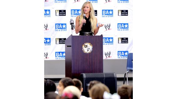 Summer Rae encourages the students help someone who is being bullied by telling a trusted adult, such as a parent or teacher.