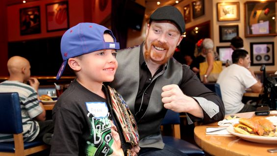 Sheamus meets Make-A-Wish's Ryan.