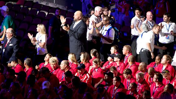 Big Show joins Team Florida athletes during the Opening Ceremonies.