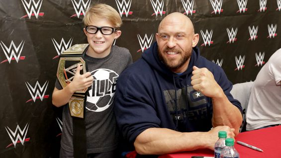 Ryback is all smiles as he greets members of the WWE Universe.