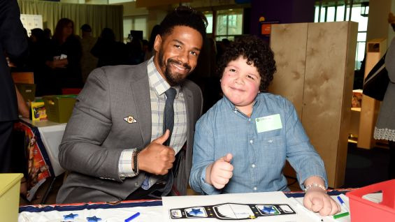 Darren Young meets Lance, one of the many children at Children's Hospital of Pittsburgh who have benefited from Connor's Cure.