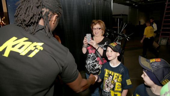 Kofi Kingston brings a smile to Nick's face.