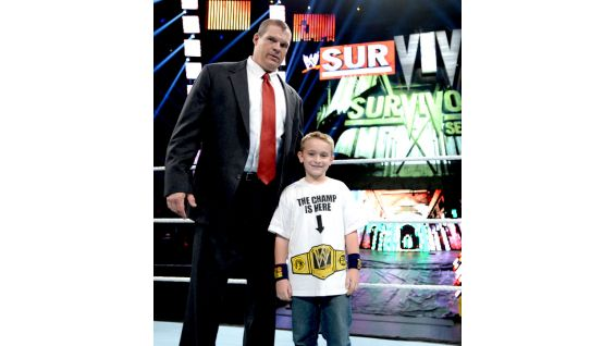 Will gets in the ring with one of his favorite Superstars, Kane.