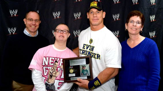 John Cena meets Patrick, 18, of Make-A-Wish.