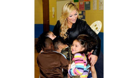 Former Divas Champion Natalya easily makes new friends wherever she goes!