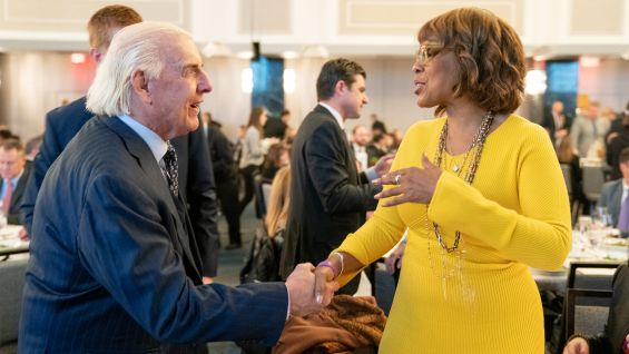 "Gayle King, ""CBS The Morning,"" co-hosted the event with Kenny Albert from MSG Networks."
