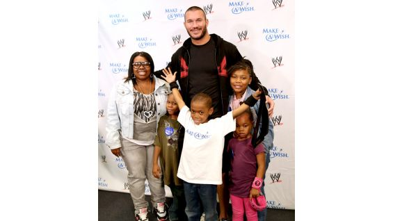 He and his family traveled from Cleveland to meet Orton!
