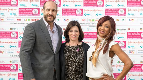 Cesaro and Alicia Fox take part in Rome's Health Village grand opening.