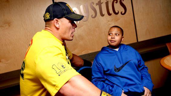 Cena also meets Nicholas, 14.