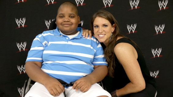 NaSeaph also meets WWE Vice President of Creative Stephanie McMahon before Raw in Hartford, Conn.