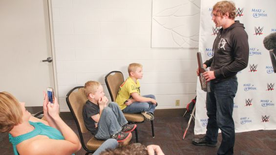 Dean Ambrose meets Chase, 7, in Fort Wayne, Ind.