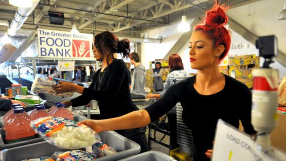 Alicia Fox Eva Marie And Ryback Volunteer At The Greater