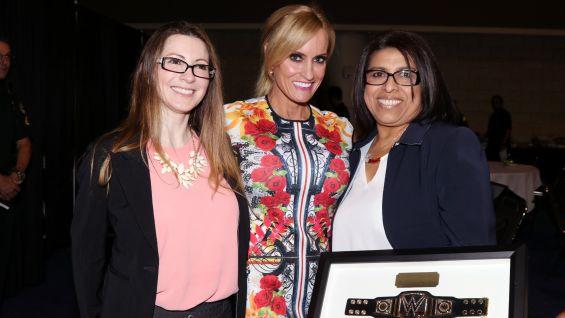 Dana meets Orlando Health representative Mariela Nokland and Maria Rivas.
