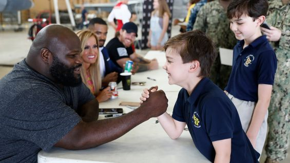 Henry Day Ford >> Superstars visit Naval Air Station Joint Reserve Base during WrestleMania Week: photos | WWE ...