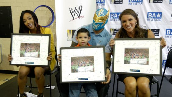 The kids also presented their own awards to the Be a STAR rally panelists!