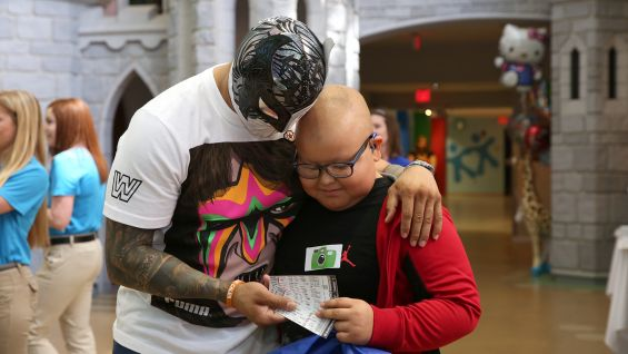 Sin Cara and the WWE Superstars want to ensure the children at the Arnold Palmer Hospital for Children have the opportunity to attend WrestleMania Axxess.