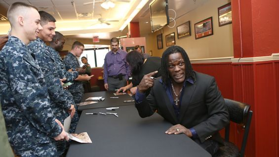 R-Truth brings the laughs to the U.S. Navy.