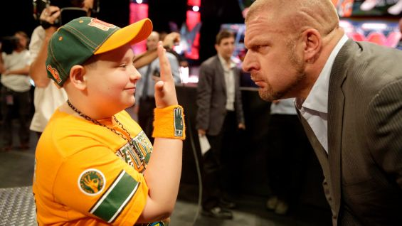 He's not intimidated by Triple H.