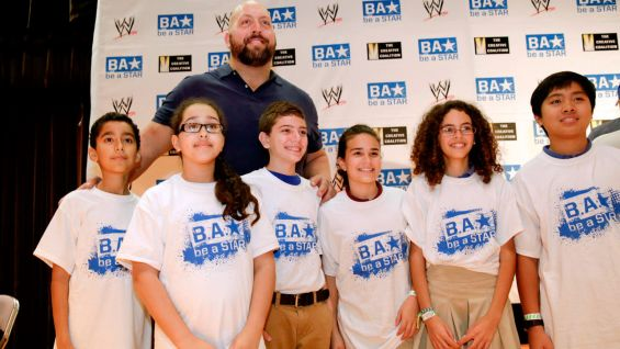 WWE Superstars Big Show, Alicia Fox and Titus O'Neil spoke to students at Bowman Ashe Doolin Middle School in Miami as part of a Be a Star Alliance anti-bullying rally.