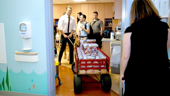 """The Miz delivers some """"awesome"""" WWE toys to the kids."""