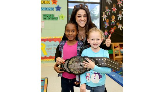 Bayley is excited to meet her young fans.