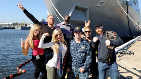 The WWE Superstars and Divas are grateful for an incredible experience on the USS New York.