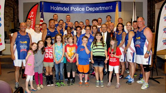 Law Enforcement officials welcome the Flame of Hope to Holmdel, N.J.