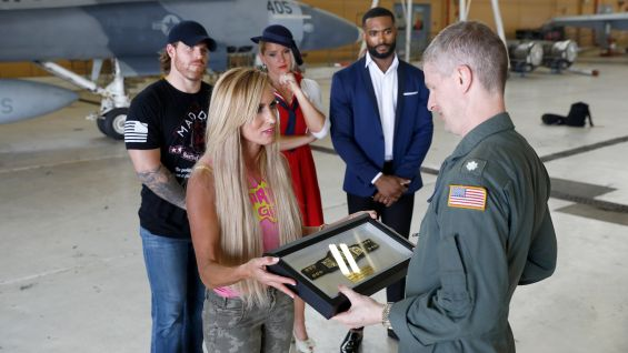 superstars visit naval air station joint reserve base  wrestlemania week  wwe