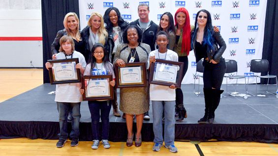 "Dolph Ziggler and the cast of ""Total Divas"" host a Be a STAR rally at Mayport Middle School."