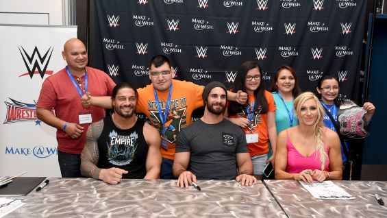 Make a wish signing with roman reigns seth rollins and charlotte in another fantastic make a wish event for the wwe universe the superstars and the dallas cowboys is in the books m4hsunfo