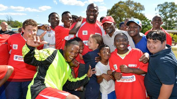 After promoting WWE's April Live Events in South Africa during an activation with local TV partner SuperSport, O'Neil joins Special Olympics South Africa to captain a Play Unified football team at Unity College.