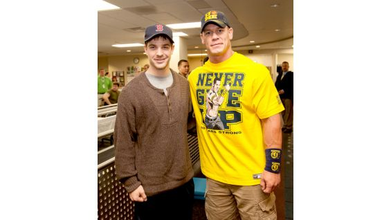 John Cena visits many Wounded Warriors at the Medical Center in Bethesda, Md.