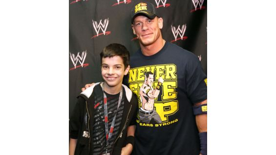 Zachary, 14, and his family meet Cena before Raw in their home state of South Carolina.