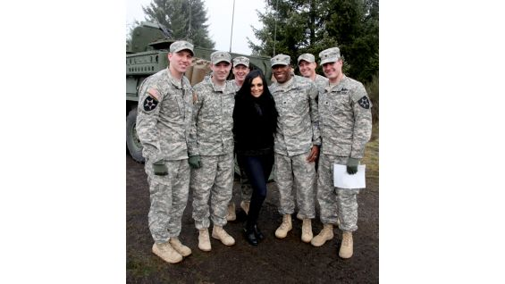 Members of the U.S. Military are thrilled to meet one of their favorite Divas, Aksana.